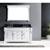 White, Black Granite, Round Sink Front View