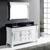 White, Black Granite, Square Sinks Side View