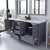 Grey, Dazzle White Quartz, Square Sinks Opened View