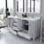 White, Dazzle White Quartz, Square Sinks Opened View
