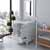 White, Dazzle White Quartz, Round Sink Opened View