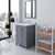 Grey, Dazzle White Quartz, Square Sink Angular View