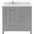 Cashmere Grey, Dazzle White Quartz, Square Sink - No Mirror