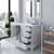 White, Dazzle White Quartz, Square Sink Opened View