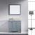 Grey w/ Round Sink Vanity Set