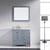 Grey w/ Square Sink Vanity Set