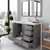 Cashmere Grey, Dazzle White Quartz, Round Sink Opened View