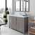 Cashmere Grey, Dazzle White Quartz, Square Sink Angular View