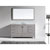 "Virtu USA Caroline Avenue Collection 60"" Freestanding Single Bathroom Vanity Set in White (Set Includes: Main Cabinet, Italian Carrara White Countertop w/Backsplash, Undermount Round Sink and Wall Mirror)"