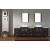 "Virtu USA Dior 110"" Double Bathroom Vanity Set"
