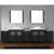 "Virtu USA Dior 126"" Double Bathroom Vanity Set"