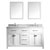 "Virtu USA Caroline 60"" Double Square or Round Sink Bathroom Vanity Set"