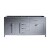 "Virtu USA 72"" Caroline Parkway Double Sink Cabinet, Grey"