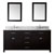 "Virtu USA Caroline 72"" Double Sink Bathroom Vanity Cabinet Set"