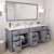 Grey, Dazzle White Quartz, Round Sinks Opened View