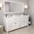 White, Dazzle White Quartz, Round Sinks Angular View
