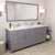 Grey, Dazzle White Quartz, Square Sinks Angular View