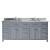 Grey w/ Square Sinks & No Mirror - White Background