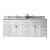 White w/ Square Sinks & No Mirror - White Background