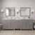 Cashmere Grey, Dazzle White Quartz, Round Sinks