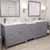 Grey, Dazzle White Quartz, Round Sinks Angular View