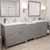 Cashmere Grey, Dazzle White Quartz, Square Sinks Angular View