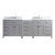 "93"" Vanity Cashmere Grey w/ Top, Square Sinks Product View"
