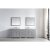 "Virtu USA Caroline Parkway 93"" Double Bath Vanity Set in Cashmere Grey w/ Italian Carrara White Marble Countertop, Square Sinks and Mirrors, Base Cabinet: 92"" W x 22-1/16"" D x 34-11/16"" H"