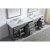 "93"" Vanity Set Cashmere Grey w/ Top, Square Sink, Faucets, Mirrors View"