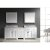 "Virtu USA Caroline Parkway 93"" Double Bathroom Vanity Cabinet Set"