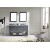 Grey w/ Round Sinks Vanity Set