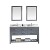 Grey w/ Square Sinks, Double Mirror - White Background