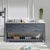 "Virtu USA Caroline Estate 72"" Double Sink Bathroom Vanity Set"
