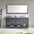 Grey, Marble, Square Sink - Front View