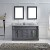 Grey w/ Square Sinks - Front View
