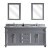 "Virtu USA Victoria 72"" Double Bathroom Vanity Cabinet Set"