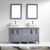 Grey w/ Stone Top Vanity Set