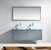 Grey w/ Glass Top Vanity Set