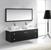 "Virtu USA Clarissa 61"" Wall Mounted Double Bathroom Vanity Set"