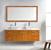 Honey Oak w/ Stone Top Vanity Set