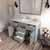Cashmere Grey, Dazzle White Quartz, Square Sink Opened View