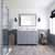 Grey, Dazzle White Quartz, Square Sink