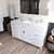 White, Dazzle White Quartz, Round Sink Angular View