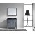 "Virtu USA Caroline Parkway 36"" Single Sink Bathroom Vanity Set"