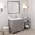 Cashmere Grey, Dazzle White Quartz, Left Round Sink Angular View