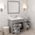 Cashmere Grey, Dazzle White Quartz, Left Round Sink Opened View