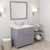 Grey, Dazzle White Quartz, Left Round Sink Angular View