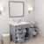 Grey, Dazzle White Quartz, Left Round Sink Opened View