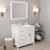 White, Dazzle White Quartz, Left Round Sink Angular View