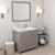 Cashmere Grey, Dazzle White Quartz, Left Square Sink Angular View